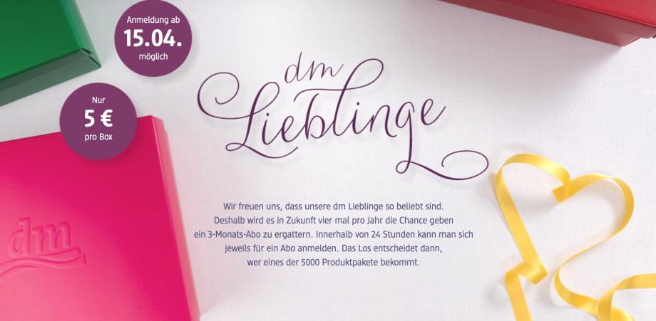 """Die """"dm Lieblinge""""….ab dem 15.04.2014 ist es wieder soweit!"""