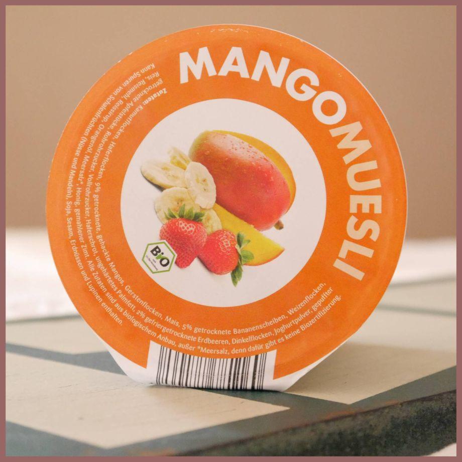 """Start in den Tag mit """"MANGOMUESLI"""" von mymuesli (mymuesli2go)…….Testmonster knuspert wieder….."""