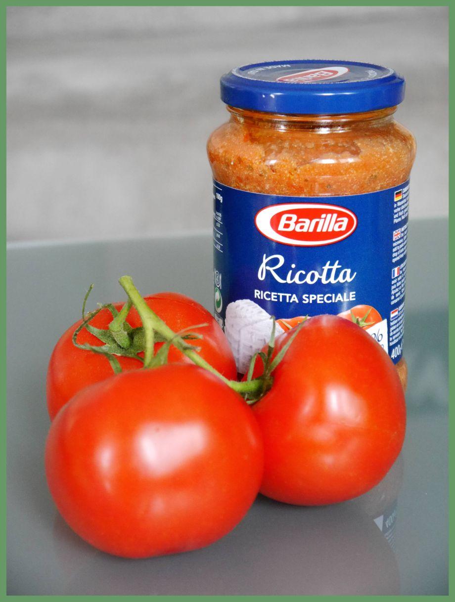 schnell mal kochen mit Barilla Farfalle & Ricotta……..LECKER!