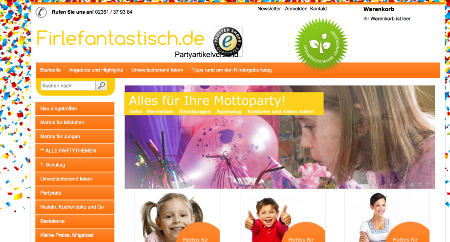 """Kindergeburtstag ganz """"firlefantastisch""""…."""