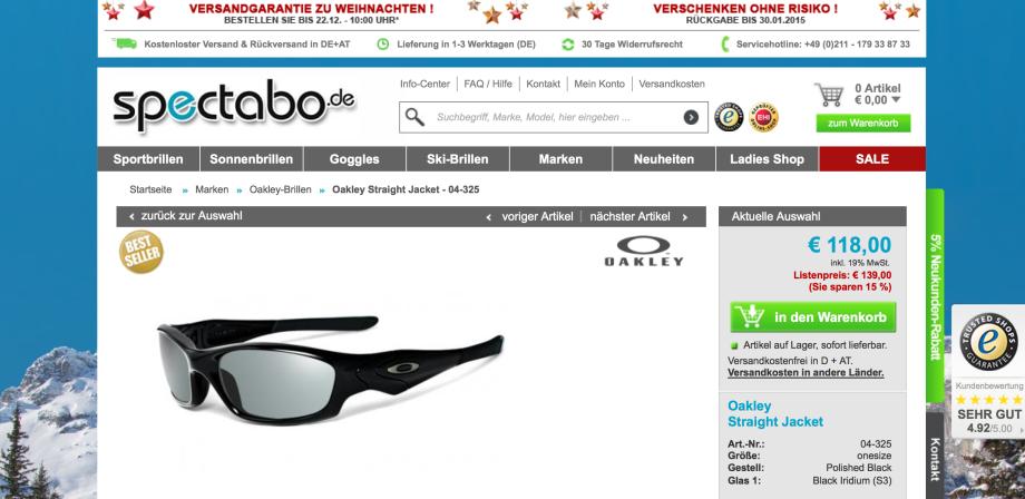 Sonnenbrille = OAKLEY = Spectabo