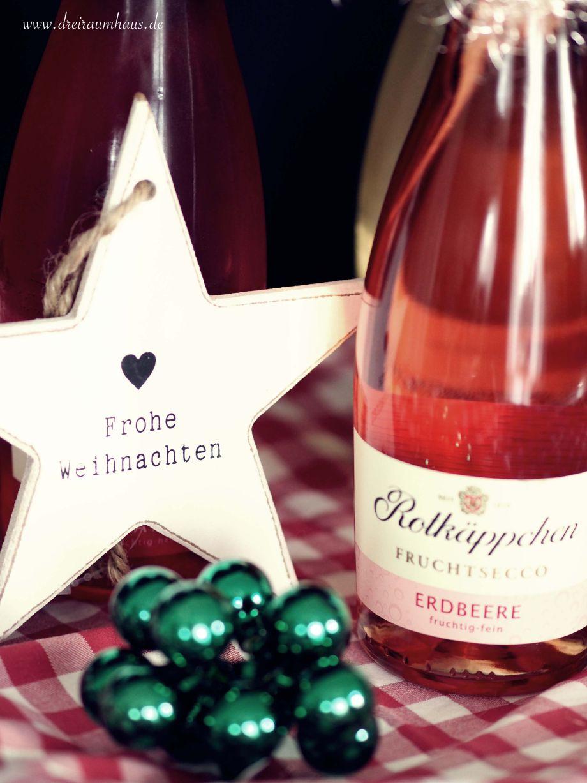 Adventskranz Ideen mit Rotkäppchen Flaschen