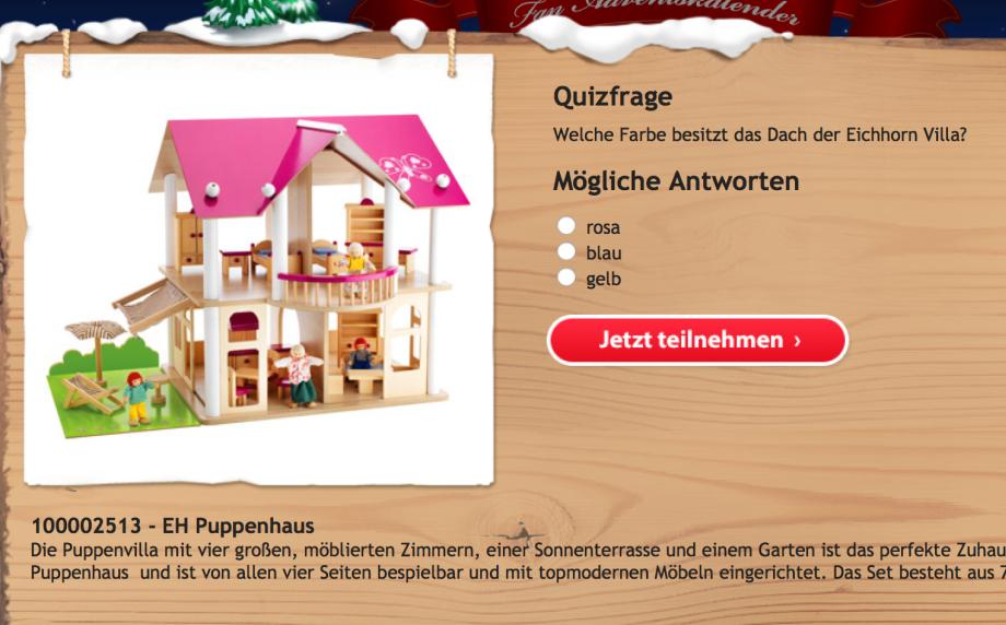 dreiraumhaus spielwaren adventskalender weihnachten geschenke geschenkideen