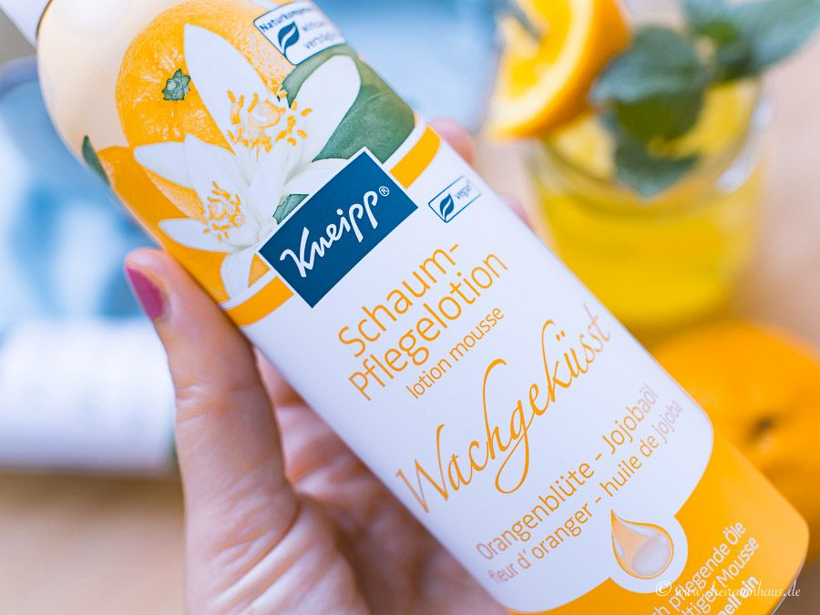dreiraumhaus kneipp duschschaum kneipp wachgekuesst homemade orangenlimonade kneipp pflegeschaum-lotion
