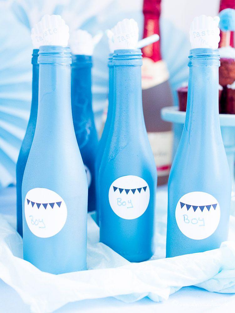 dreiraumhaus-rotkäppchen alkoholfrei-sekt-babyshower-party-diy-4