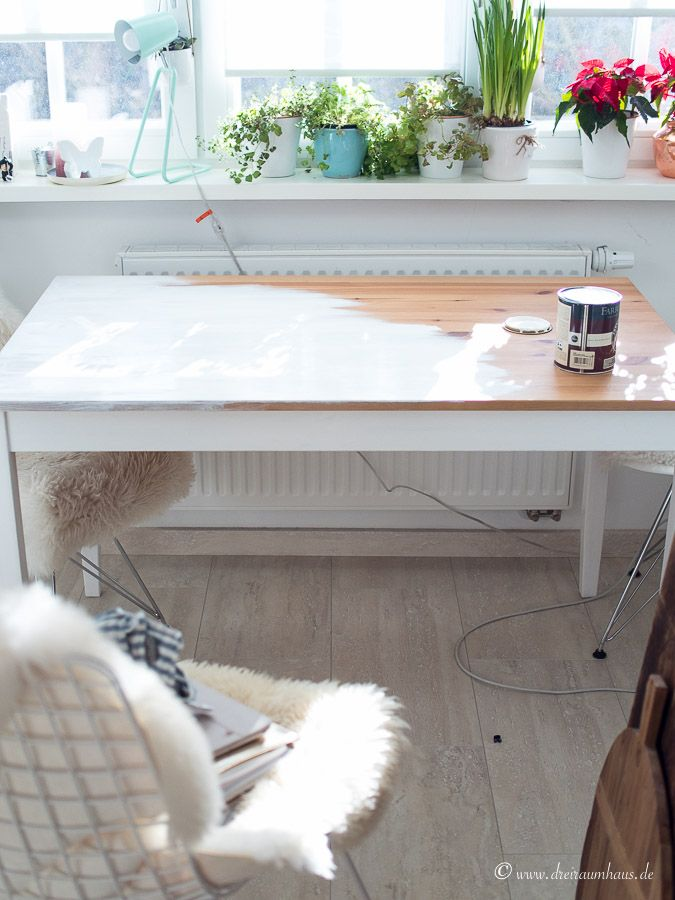 Tisch streichen ohne schleifen? Ein DIY mit Farrow & Ball!