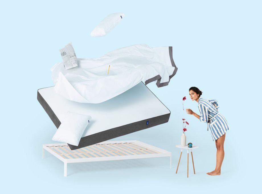 living wie w re es mit einer casper matratze im bett. Black Bedroom Furniture Sets. Home Design Ideas