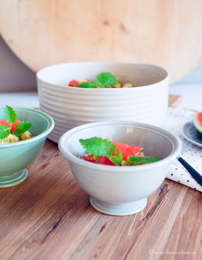 SOMMERLICHER COUSCOUS SALAT! Der leckerste, sommerliche Couscous Salat mit Wassermelone, Feta und Krebsfleisch!