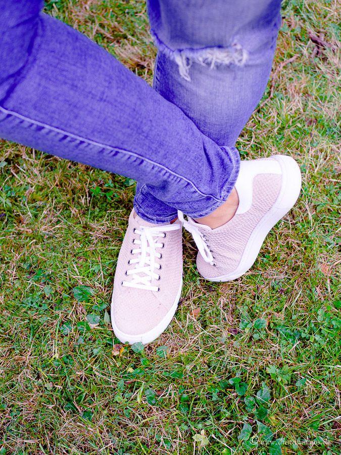 FASHION: Zauberhafte und super bequeme Sneaker in altrosa...entzückende Schuhe von Romika für einen goldigen Herbst!