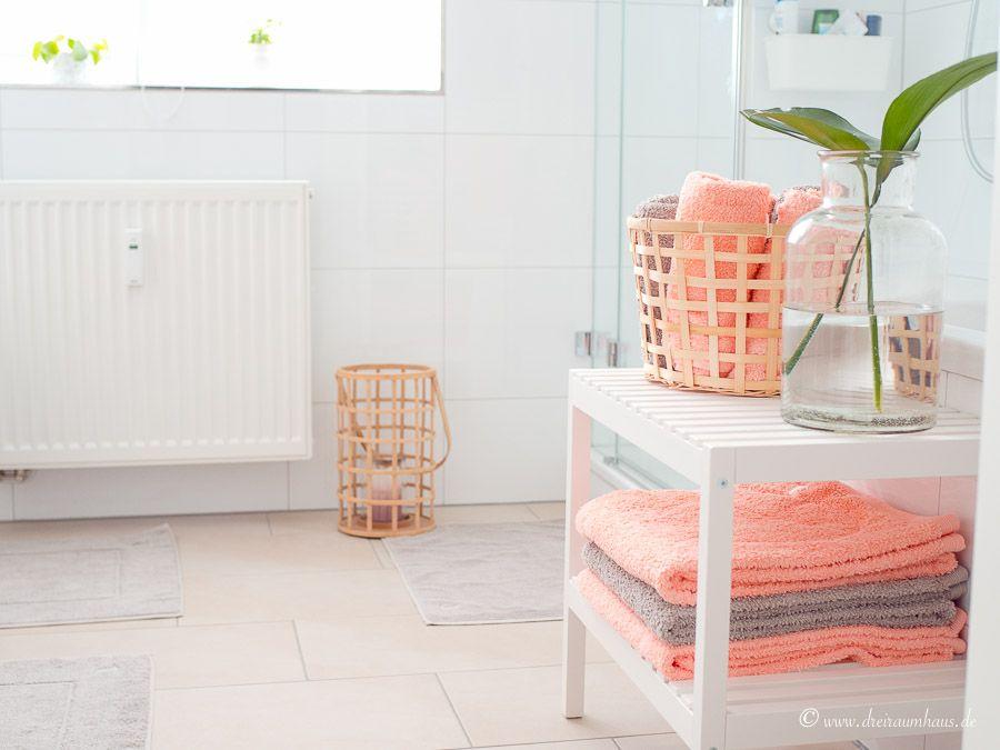 LIVING BADEZIMMER DEKORATION: Wie dekoriere ich ein Bad zeitlos, dezent und schön? Zum Beispiel mit den Superwuschel Handtüchern von MÖVE Frottana! #neuewohnungteil3