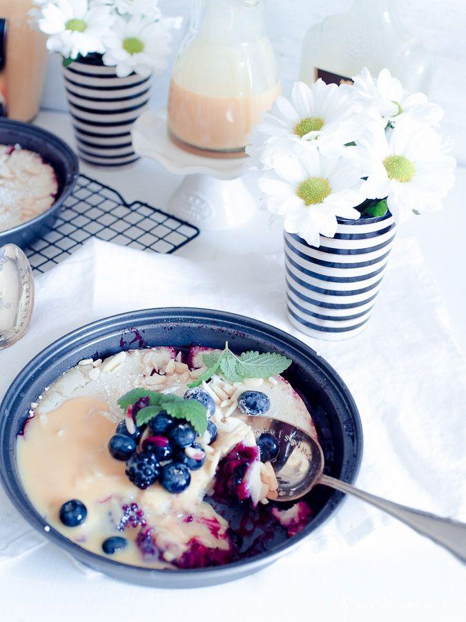 Der leckerste Blaubeerpfannkuchen mit Eckes Eierlikör aus dem Backofen für Kinder & Erwachsene!