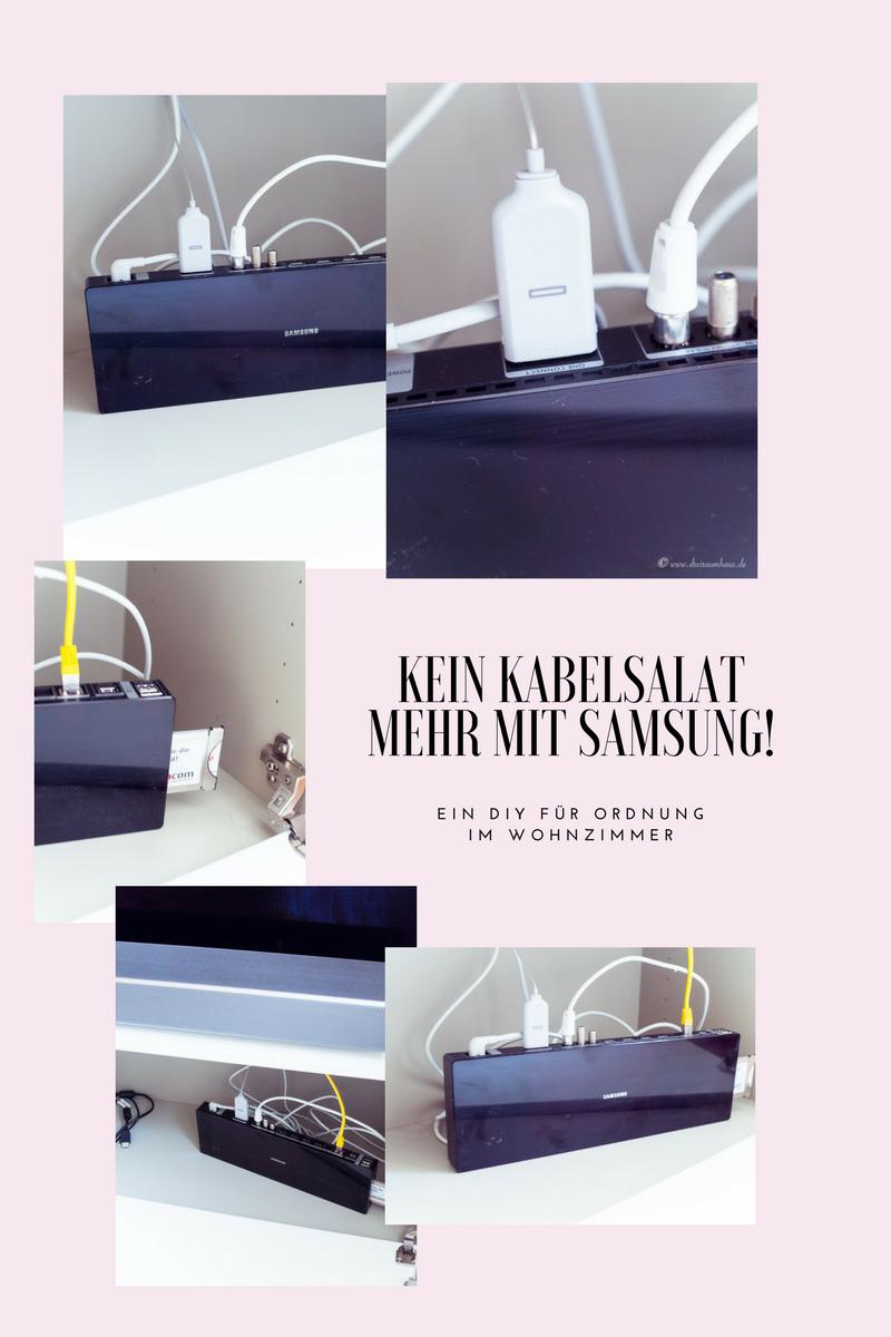 Ein 20 Minuten DIY für eine hübsche Aufbewahrung auf dem Wohnzimmertisch und die schönste Fernbedienung der Welt! Samsung Q7F TV und die Samsung One Connect Box!