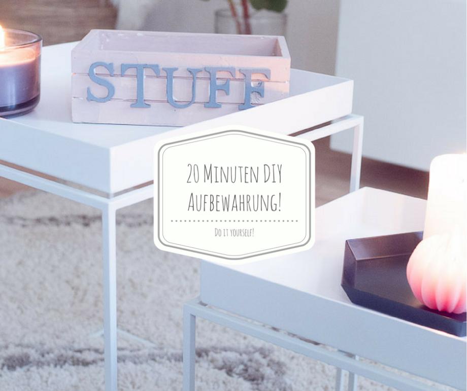 Ein 20 Minuten DIY für eine hübsche Aufbewahrung auf dem Wohnzimmertisch und die schönste Fernbedienung der Welt!