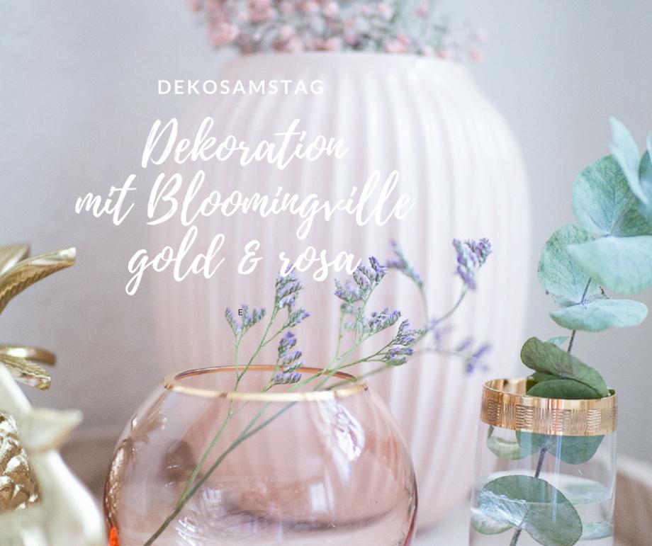 DEKOSAMSTAG – Wie Du Dekoration in gold und rosa hübsch zusammenstellen kannst! #dekosamstag