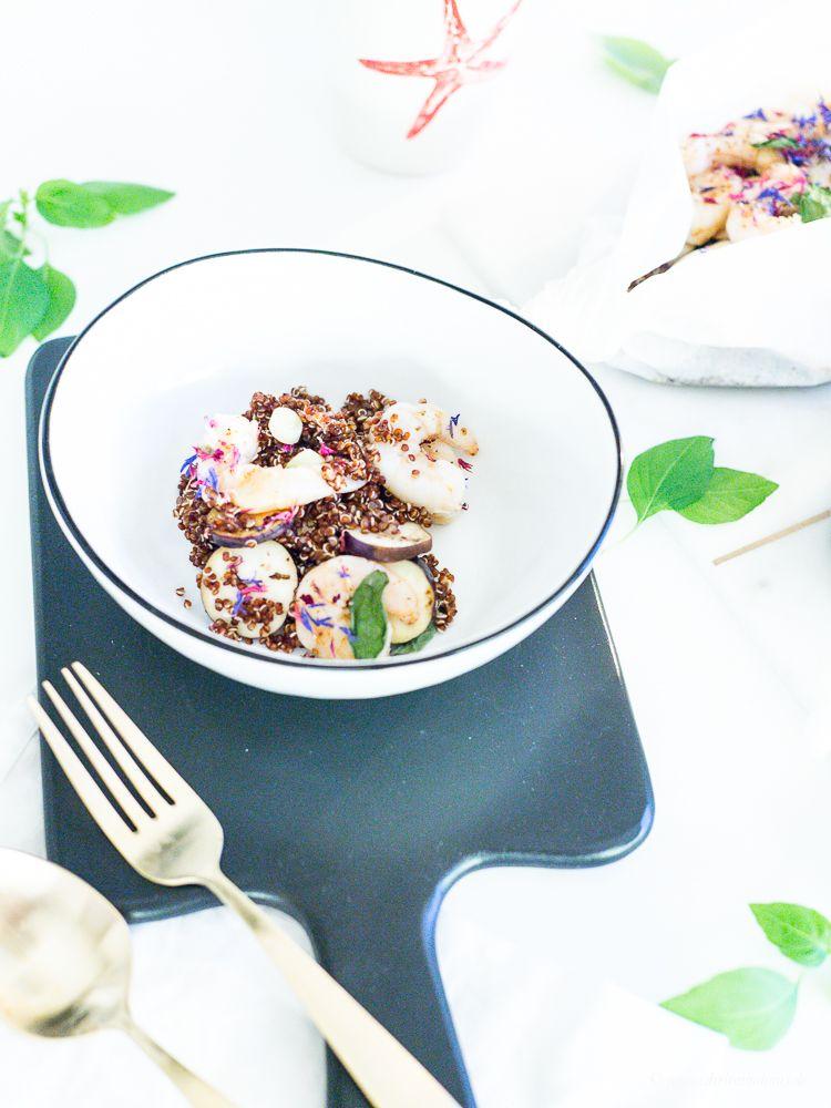 Ein gesundes Rezept zum Freitag: Gambas mit Gemüse in Pergamentpapier! Guten Hunger...