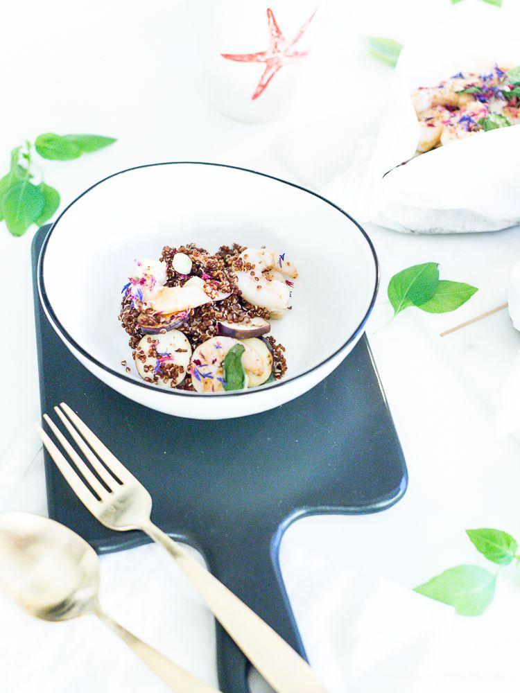 Ein gesundes Rezept zum Freitag: Gambas mit Gemüse in Pergamentpapier! Guten Hunger…