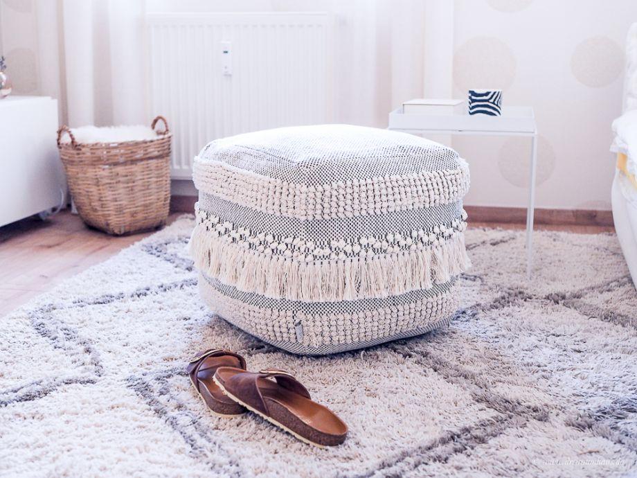 dekosamstag der perfekte pouf life von house doctor. Black Bedroom Furniture Sets. Home Design Ideas