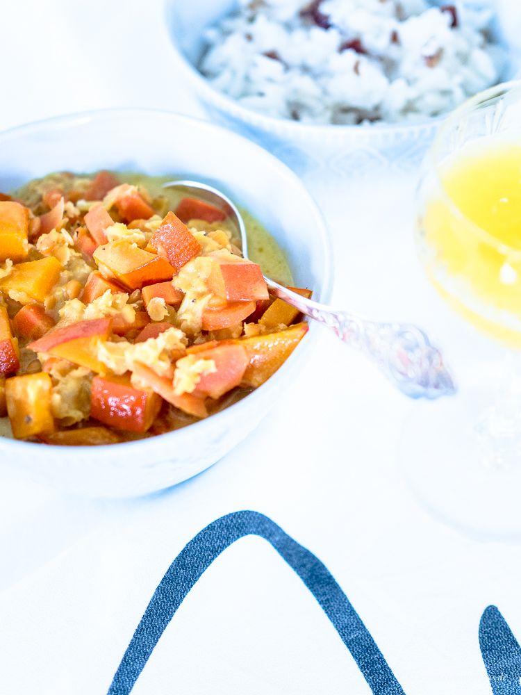 Ein leckeres, wärmendes Kürbis-Möhren-Curry - ein Rezept nach TCM (traditionell, chinesische Medizin)!