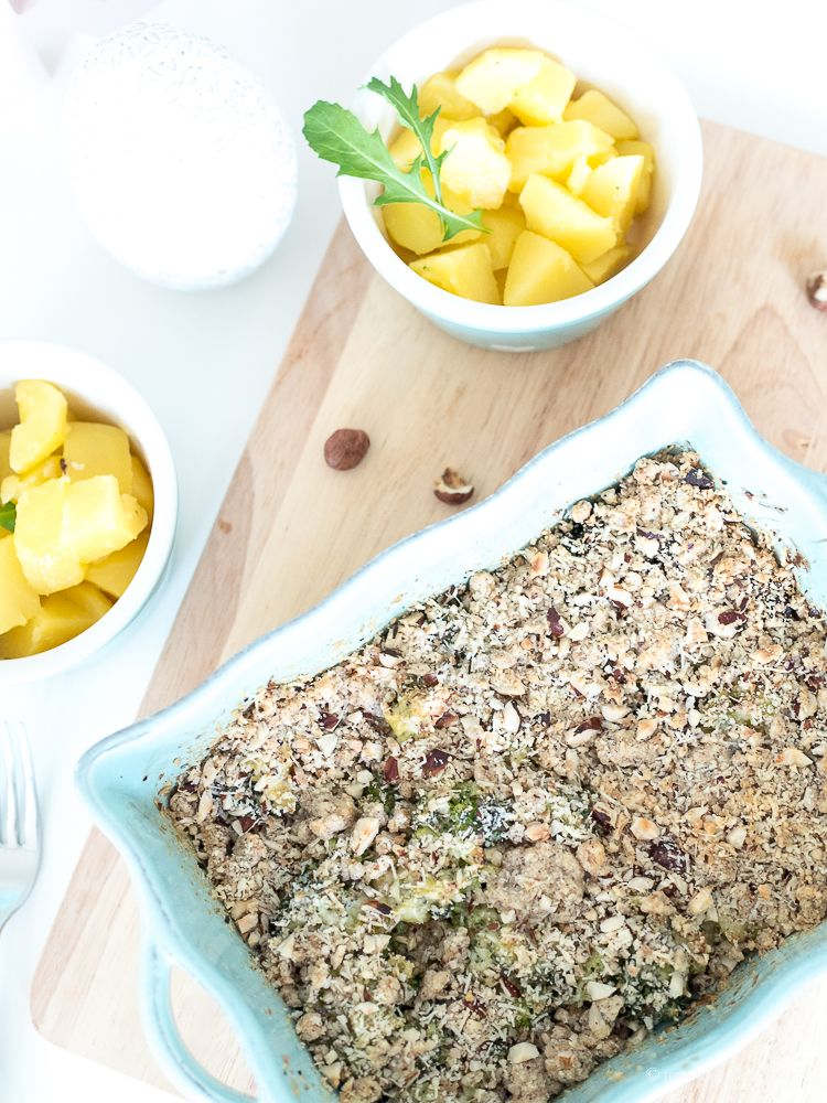 Lauchcrumble mit Backpflaumen – ein Rezept für die Aufbauphase in der Fastenzeit!