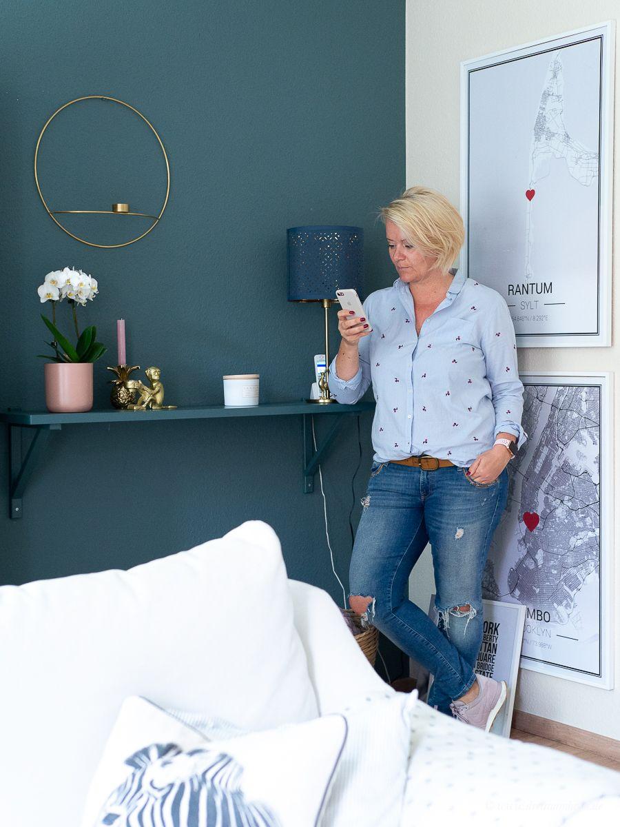 Dekosamstag: Lichtplanung in kleinen Räumen! Die gemeine Tischlampe.....Dekosamstag: Ikea Hemnes Vitrine lackieren und mit Stoff beziehen! Möbel lackieren ohne abzuschleifen mit Farrow and Ball!