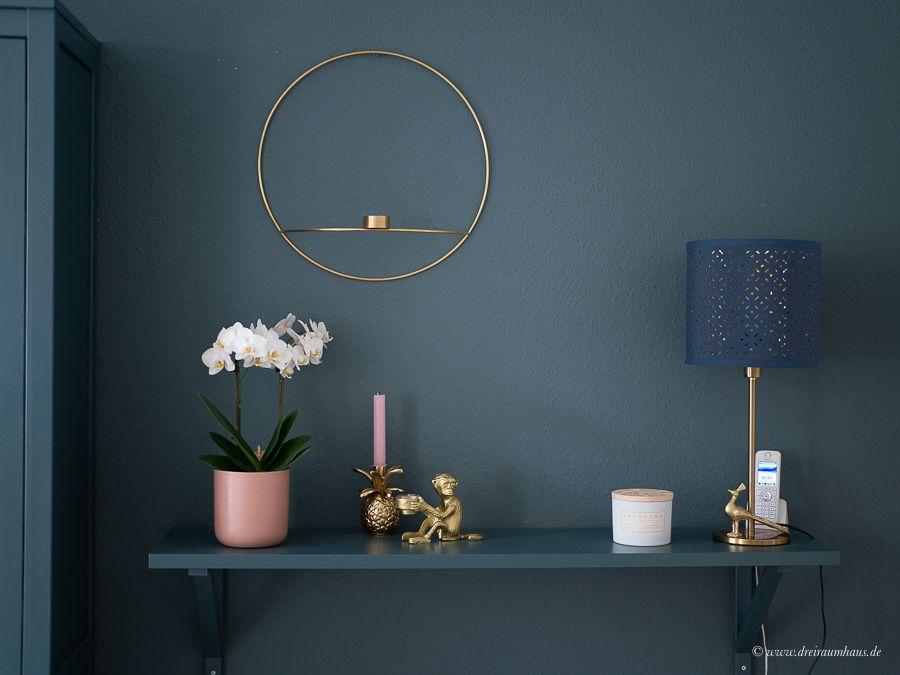 Dekosamstag: Ikea Hemnes Vitrine lackieren und mit Stoff beziehen! Möbel lackieren ohne abzuschleifen mit Farrow and Ball!