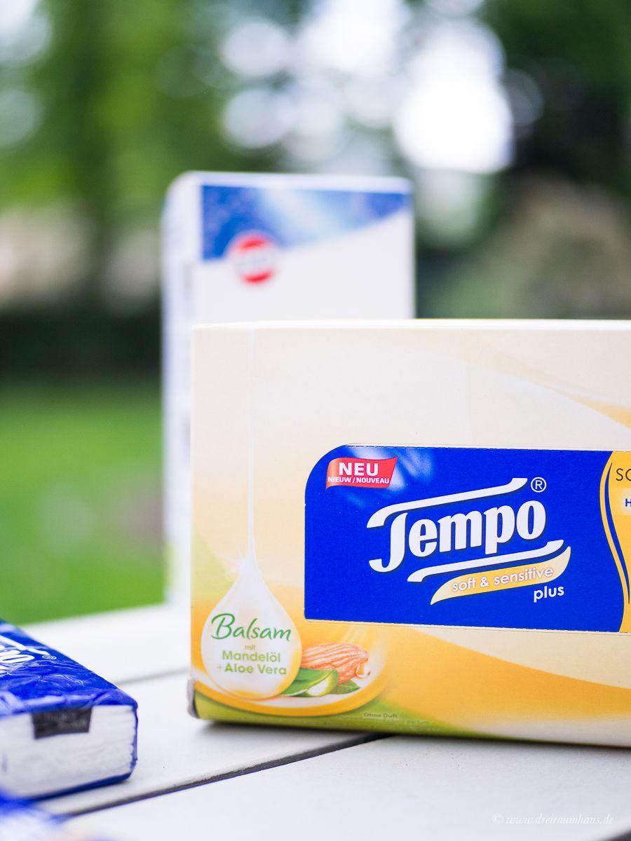 3 gigantische Rezepte für Männerschnupfen & Heulsusen! Gegen Heuschnupfen und Allergien mit der SOS Box von Tempo!