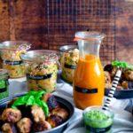 dreiraumhaus u40 lifestyleblog Leipzig rucola Spinat Pesto Sommer-Rezepte mit Dr. Oetker Bistro Baguette