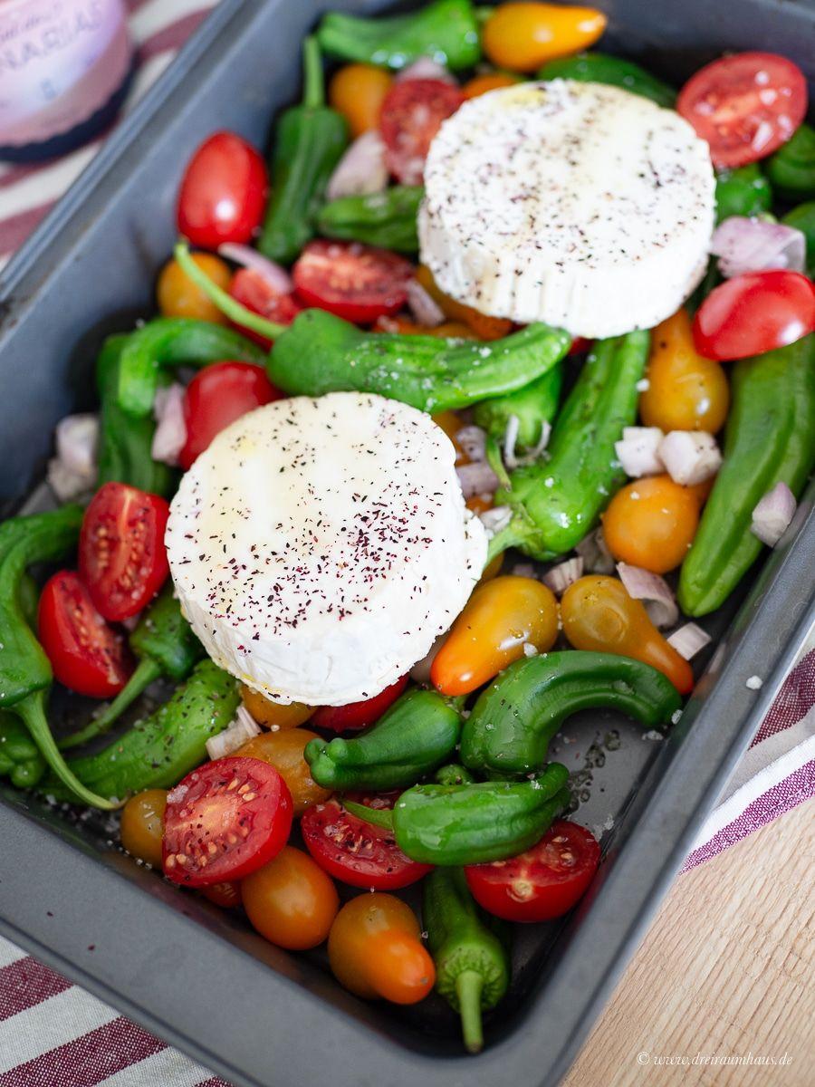 Grillbeilage Ofengemüse mit gratiniertem Ziegenkäse!