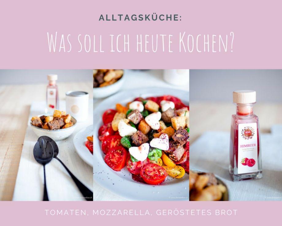 Alltagsküche im dreiraumhaus - Rezepte für den Alltag: Küchengeflüster für den Alltag: Tomaten mit Mozzarella Herzen und geröstetem Brot!