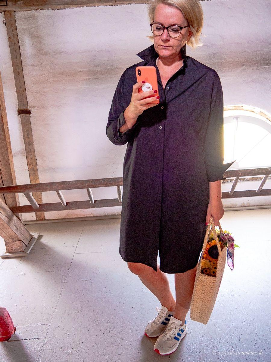 Ein Kleid zum wohlfühlen für den Herbst? Schwarz und Oversize? Geht nicht? Geht doch! Marc O Polo Hemdkleid!