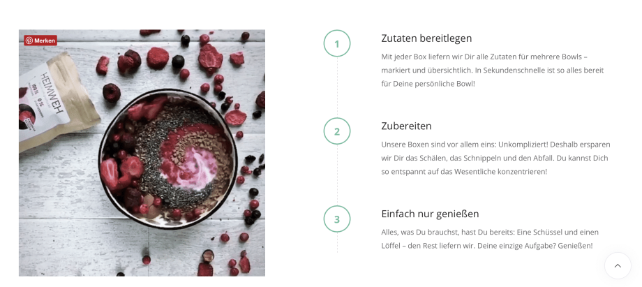 Bea and you sei Dir wichtig Box für Superfood Bowls