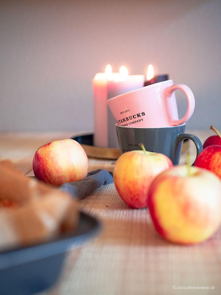 Küchengeflüster für den Alltag: Saftiger Apfelkuchen mit Dinkelmehl, Skyr und Nüssen!