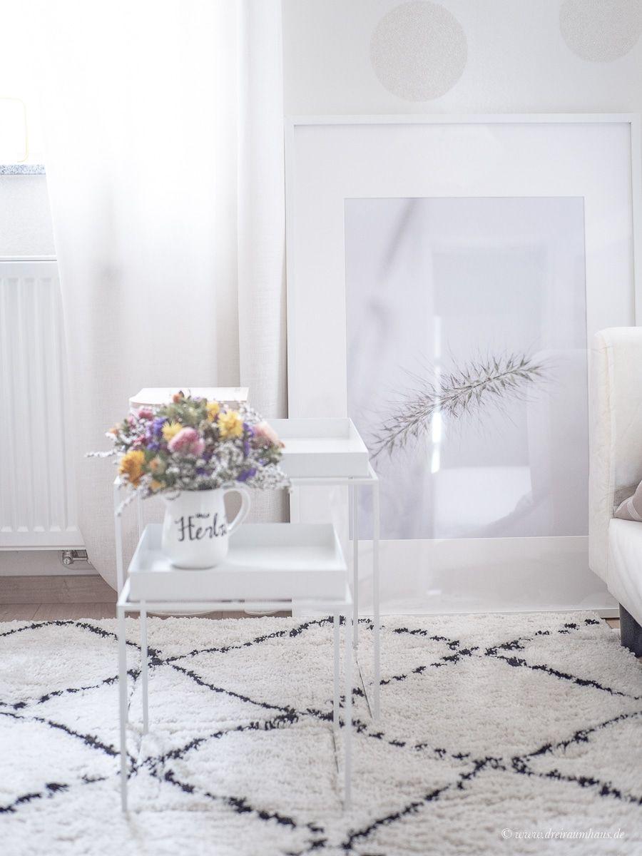 Diese Wohntrends sind 2019 angesagt...Dekosamstag: Große Bilder, kleine Räume oder warum es glücklich macht die eigene Arbeit an die Wand zu hängen! Ein Freebie!