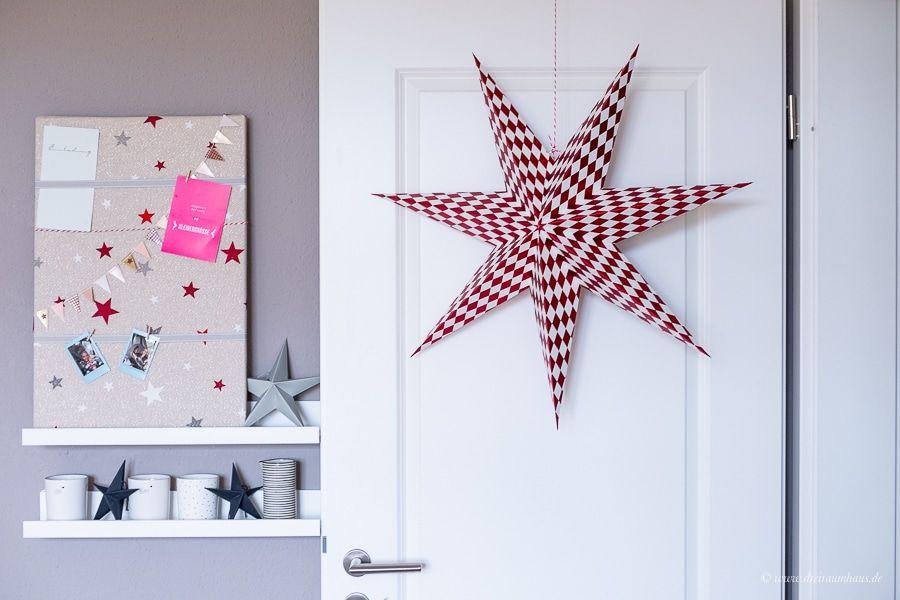 Dekosamstag: 10 Minuten DIY Pinnwand mit weihnachtlicher Dekoration!