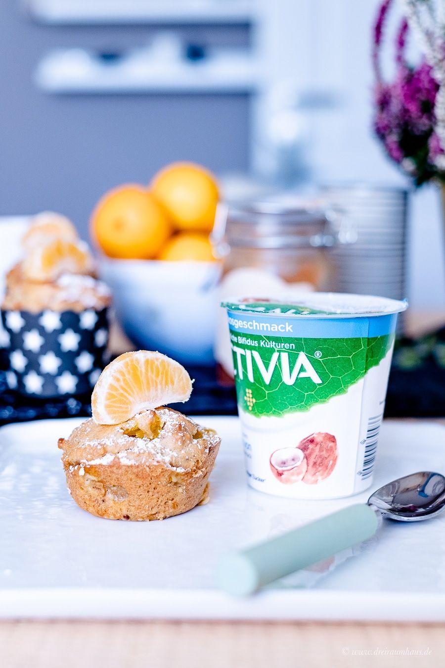 Mandarinen Frühstücksmuffins und ACTIVIA ein Hauch von Kokos.Warum Wohlfühlmomente Glücksmomente sind? Ein kleiner Leitfaden für einen ausgewogenen Alltag!