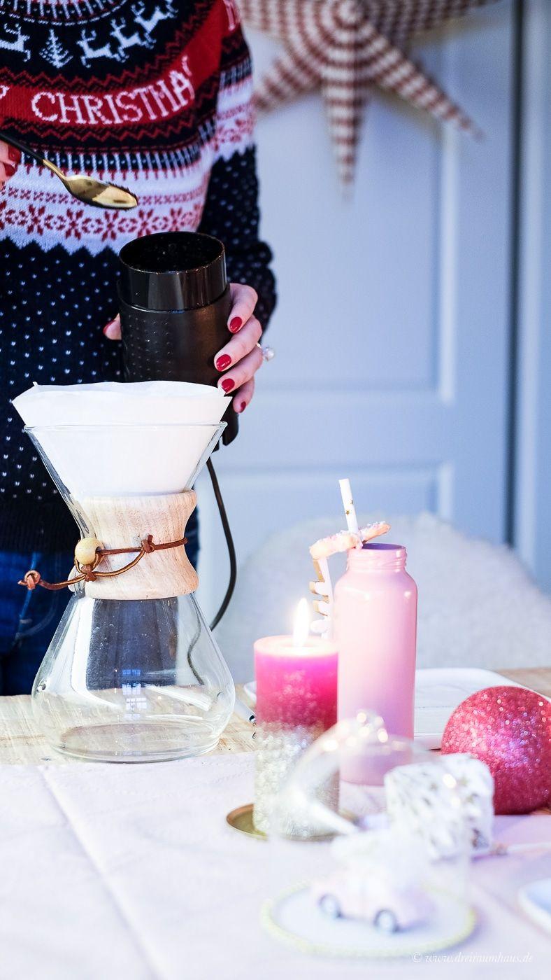 dreiraumhaus ue40 lifestyleblog jj darboven eilles kaffee weihnachtliche Tischdeko fuer Frauen Diy mit Flaschen