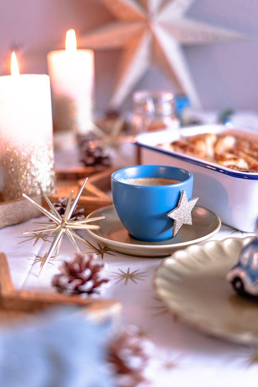 Ein süßes Faltenbrot und ein weihnachtliches DIY für eine festliche Kaffeetafel mit EILLES KAFFEE!