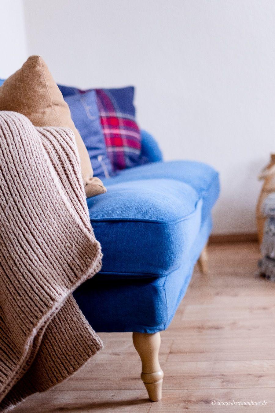 Dekosamstag: Ein blaues Samtsofa von IKEA und mehr ...