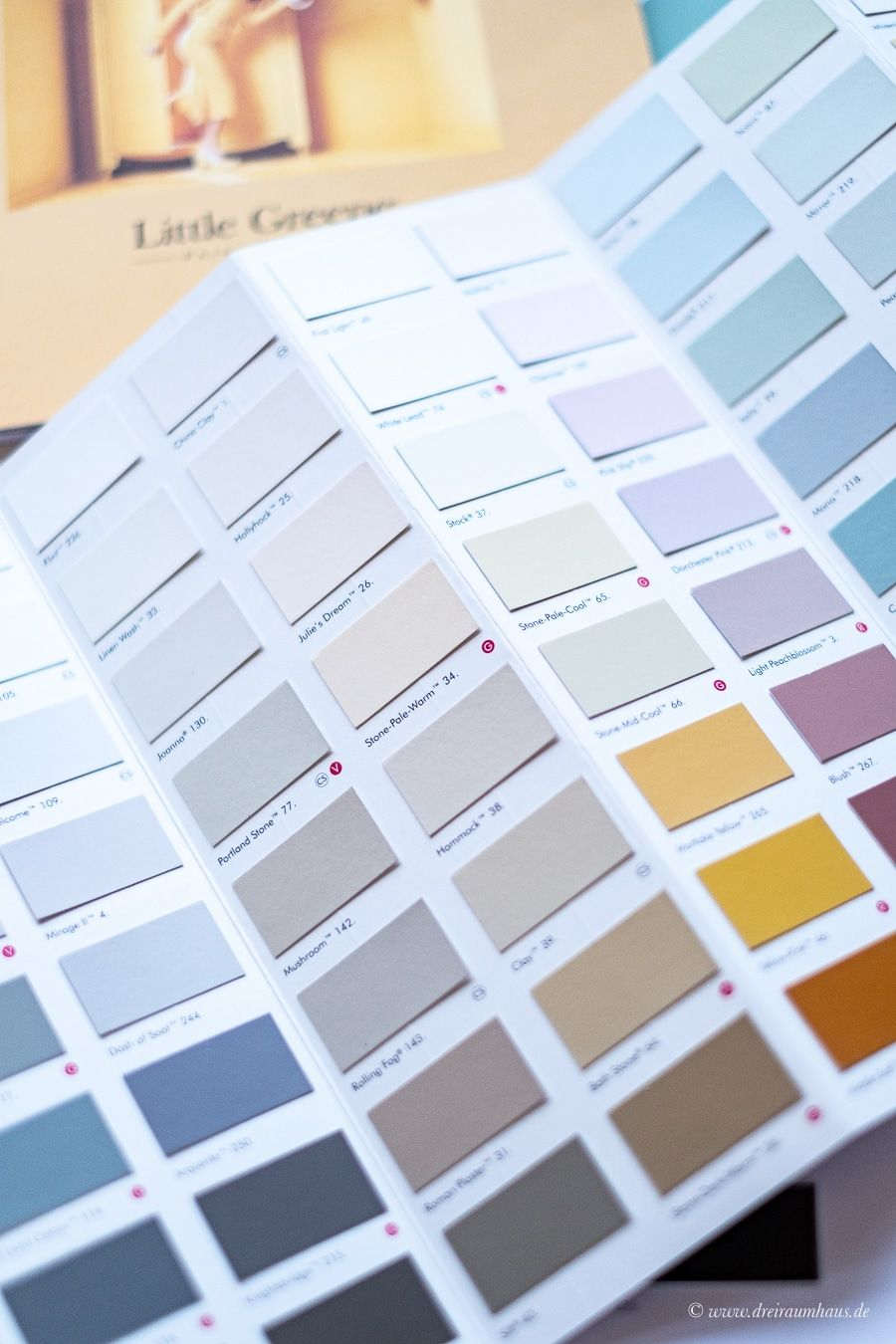 Dekosamstag: Wohnzimmer #1 - Wie plane ich ein Room-Makeover? Farbauswahl mit Little Green und Architects Finest und ein Samtsofa.