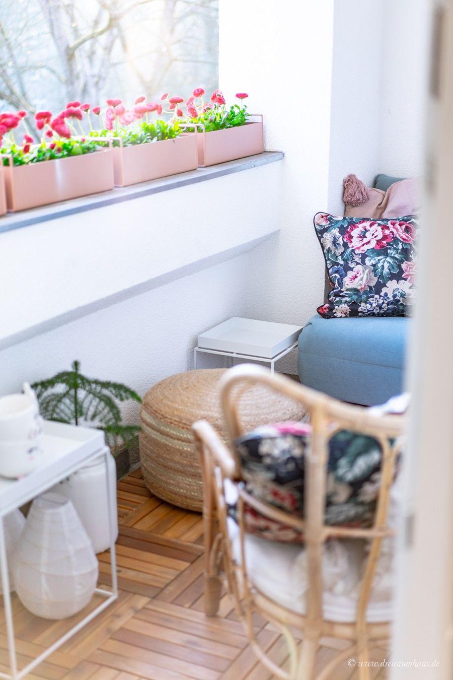 Dekosamstag: Ein kleines Stück Glück oder wie man einen kleinen Balkon einrichtet!