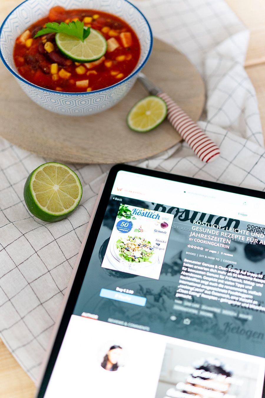Self Publishing leicht gemacht! cookingCatrin mit ihrem Online-Magazin bei wondermags und ein veganes Chili!
