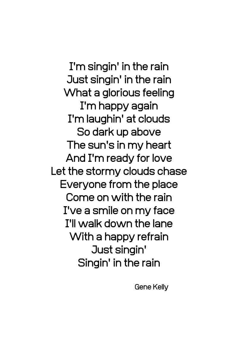 #glücklichmacher #9 …singin' and dancing in the rain…