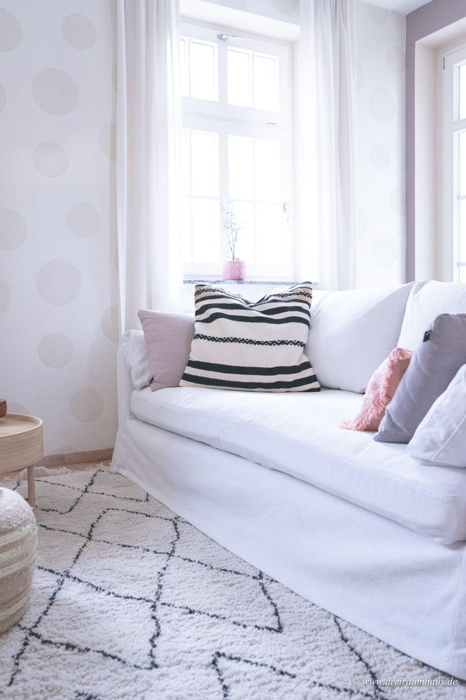 Dekosamstag: Ein Rauten Teppich für kuschelige Gemütlichkeit im Wohnzimmer...