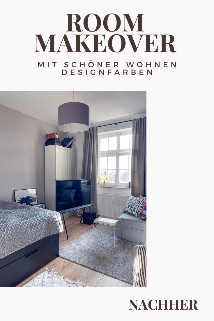 Dekosamstag: Vorher/Nachher - neue Wandfarbe für Luca! Ein neuer Anstrich mit Schöner Wohnen Designfarben!