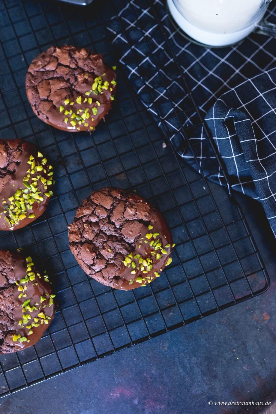 Schoko Cookies mit Pistazien... es duftet fast schon nach Weihnachten...