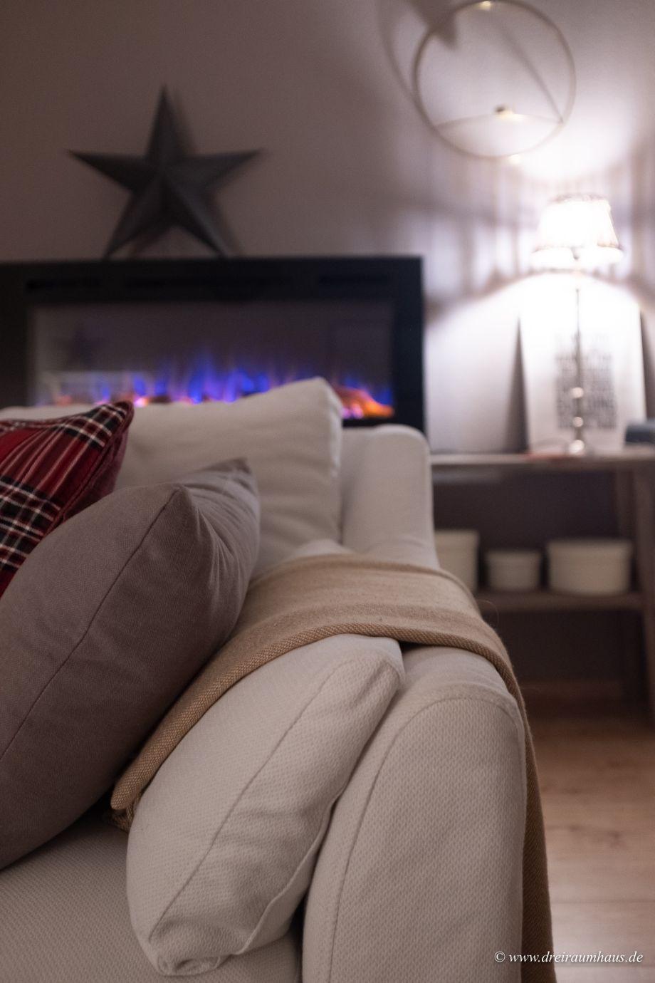 Dekosamstag: Winterliche Gemütlichkeit mit Kaminfeuer und Orangenpunsch.