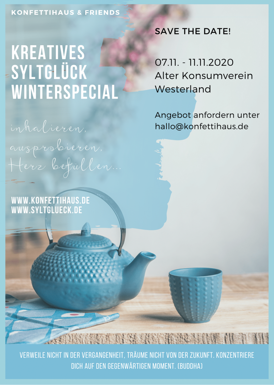 "Sylt Workshops: Save the date: ""Winterspecial Syltglück"" mit Konfettihaus & Friends"