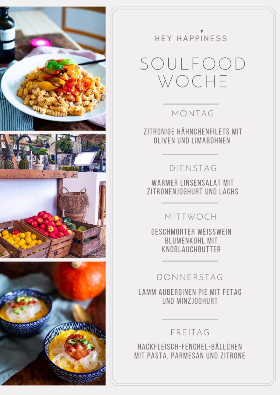 HEY HAPPINESS SOULFOOD WOCHE #1 - Einkaufsliste