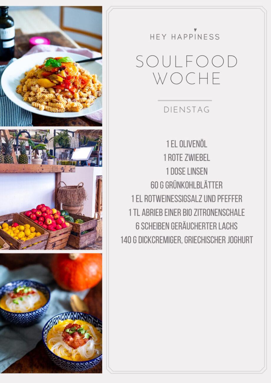 HEY HAPPINESS SOULFOOD WOCHE #1 - Einkaufsliste - Dienstag