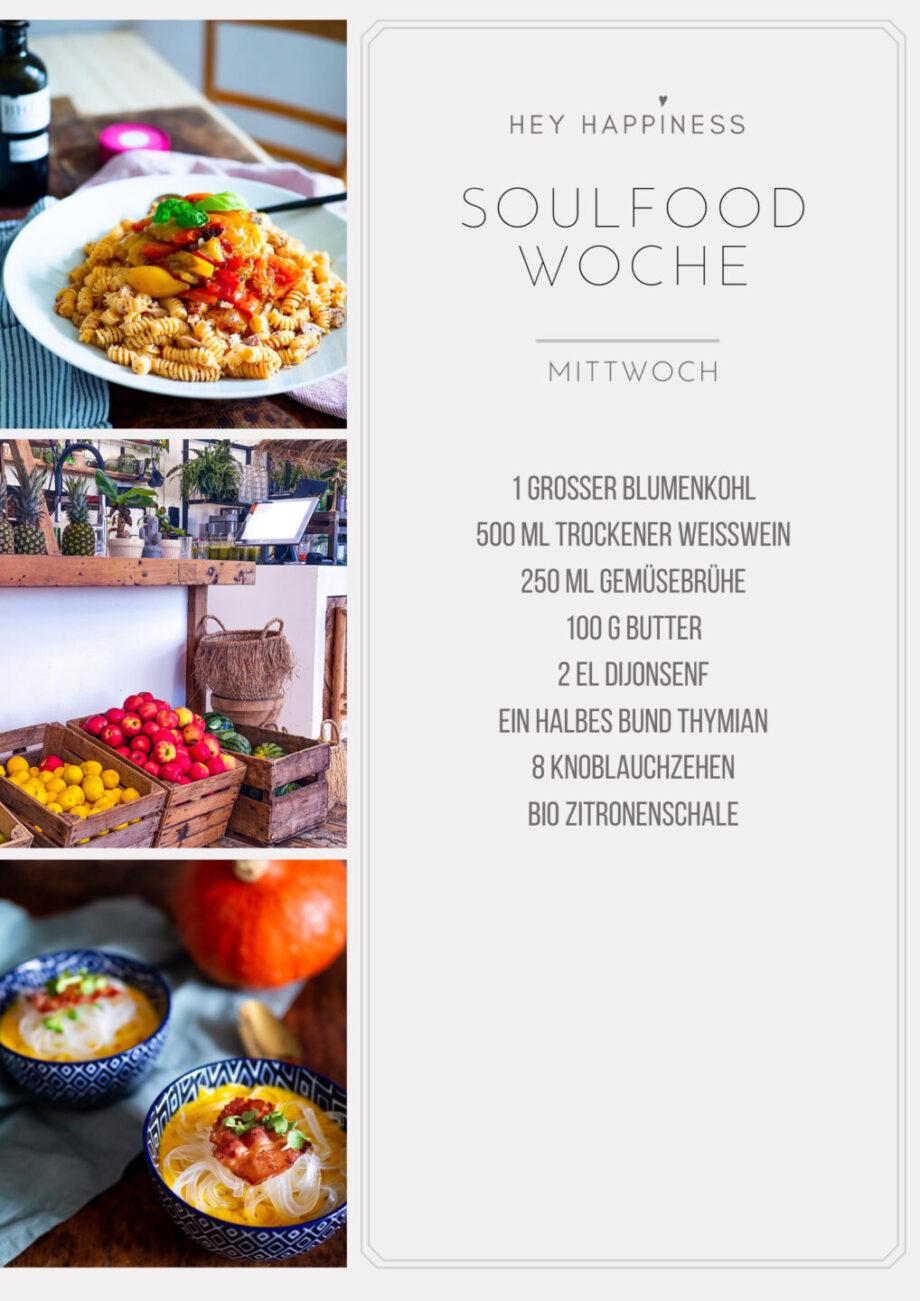 HEY HAPPINESS SOULFOOD WOCHE #1 - Einkaufsliste - Mittwoch